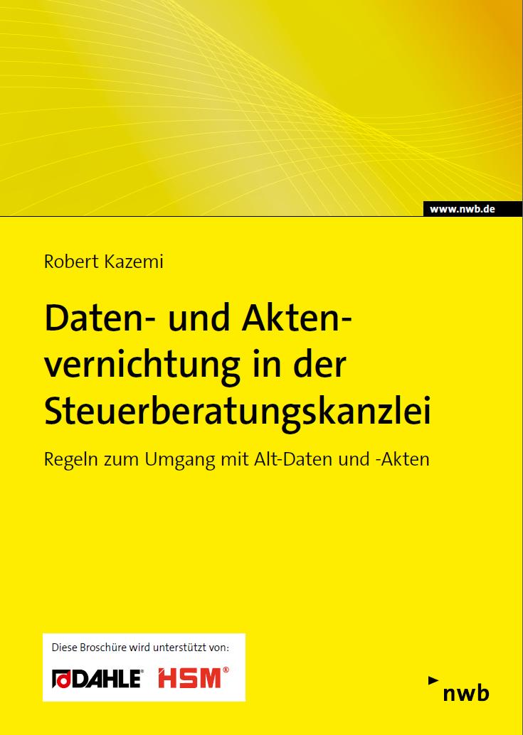 Daten- und Aktenvernichtung Steuerberatungskanzlei